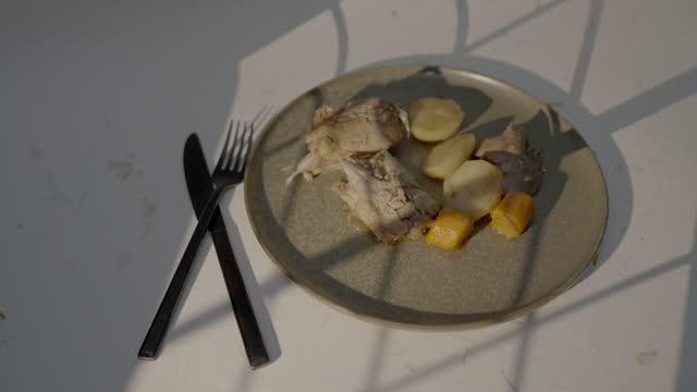 stockvideo's en b-roll-footage met rabbit dish - tafelmanieren