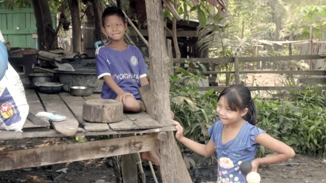vídeos de stock, filmes e b-roll de fight to stop the spread of a new drug resistant strain of malaria thailand / myanmar border drone footage of village on the border car along track... - condição