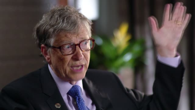 Fight to stop the spread of a new drug resistant strain of malaria ENGLAND London INT Bill Gates interview SOT Reporter