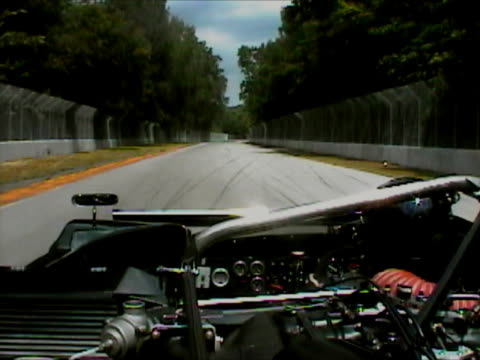 POV race camera in a racing car