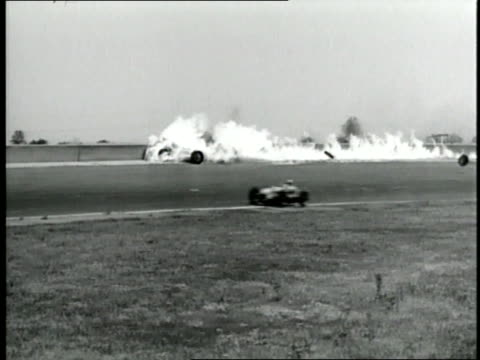 a race car bursts into flames at the 1940 indy 500 - 1940 stock videos & royalty-free footage