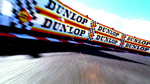 overexposed race car point of view around empty track (remote control car) - overexposed stock videos & royalty-free footage
