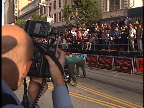 race cars at the driven premiere at manns chinese theater hollywood in hollywood ca - teatro cinese tcl video stock e b–roll