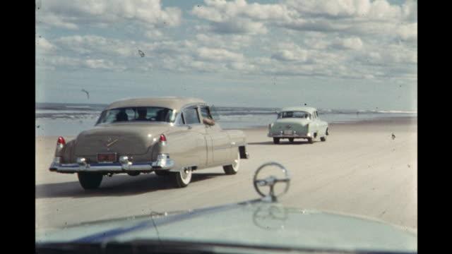 race cars driving on daytona beach, florida, usa - 1954 stock videos & royalty-free footage
