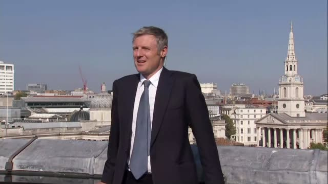 goldsmith selected as conservative candidate goldsmith posing for photocall on roof of building - キャシー・ニューマン点の映像素材/bロール