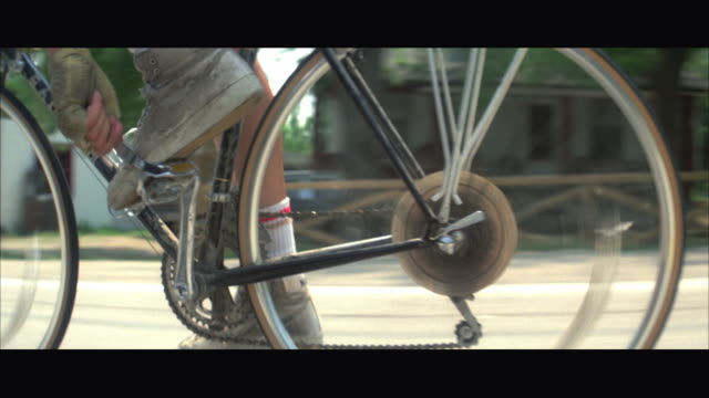 cu pov racer shifting gears on black racing bicycle - 1984 stock videos & royalty-free footage