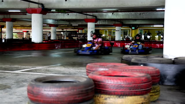 racers on karting - go cart stock videos & royalty-free footage
