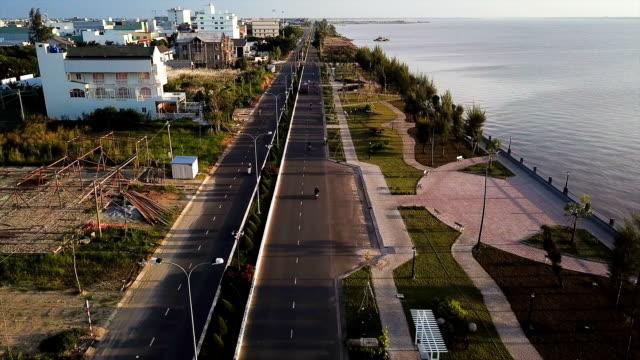 rach gia city - coastal road stock videos & royalty-free footage
