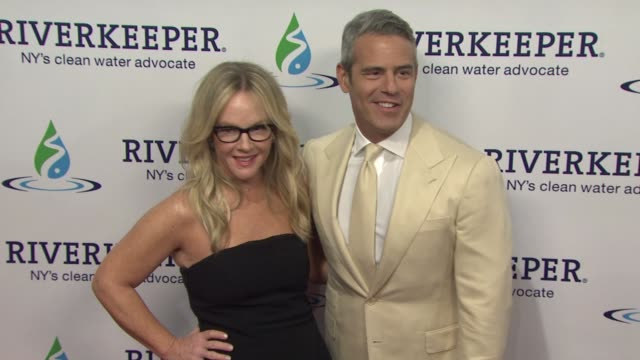 rachael harris and andy cohen at riverkeeper's 50th anniversary fishermen's ball at pier sixty at chelsea piers on may 18 2016 in new york city - rachael harris stock videos and b-roll footage