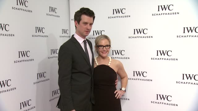 rachael harris and christian hebel at iwc schaffhausen third annual for the love of cinema dinner during tribeca film festival on april 16 2015 in... - rachael harris stock videos and b-roll footage