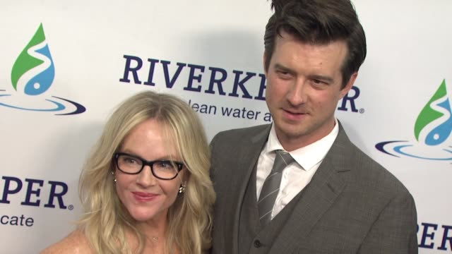rachael harris and christian hebel at riverkeeper's 50th anniversary fishermen's ball at pier sixty at chelsea piers on may 18 2016 in new york city - rachael harris stock videos and b-roll footage