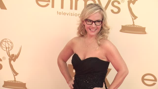 rachael harris at the 63rd primetime emmy awards arrivals part 1 at los angeles ca - rachael harris stock videos and b-roll footage