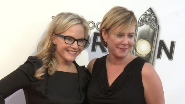 rachael harris at the book of mormon los angeles opening night on 9/12/12 in los angeles ca - mormonism stock videos & royalty-free footage
