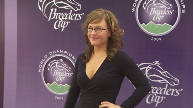 rachael harris at the breeders' cup world thoroughbred championships at arcadia ca - rachael harris stock videos and b-roll footage
