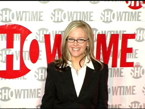 rachael harris at the star-studded tca press tour party hosted by showtime at universal studios in universal city, california on january 12, 2005. - universal city video stock e b–roll