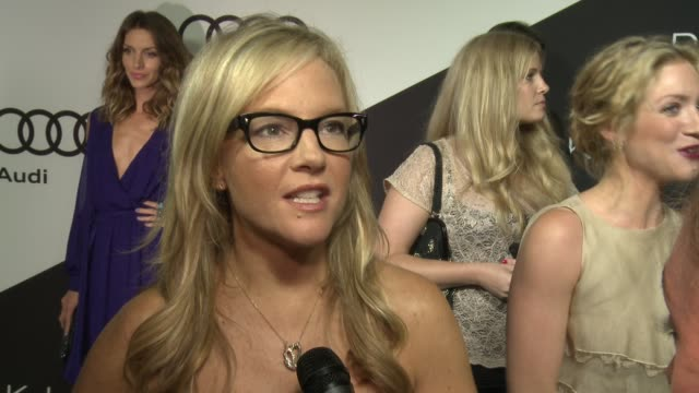 rachael harris on being at the event which nominees she's rooting for what she thinks of the audi a8l at audi and derek lam kick off emmy week 2012... - rachael harris stock videos and b-roll footage