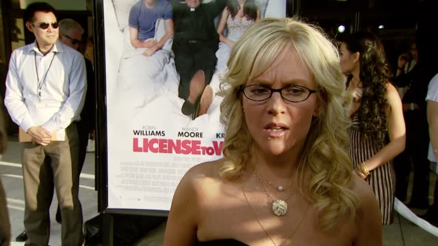 rachael harris on the experience of working on the film at the 'license to wed' premiere at the cinerama dome at arclight cinemas in hollywood... - rachael harris stock videos and b-roll footage