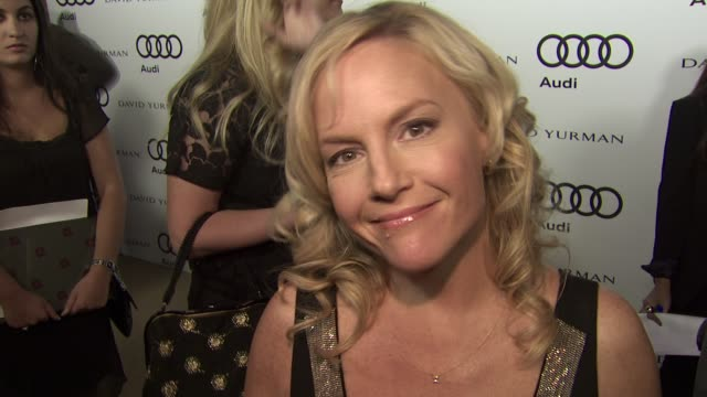 rachael harris on why she wanted to attend the audi preparty what she is most looking forward to this evening what some of her favorite television... - rachael harris stock videos and b-roll footage