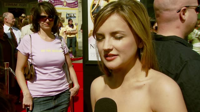 Rachael Leigh Cook on her character how she got involved with the film and her familiarity with the Nancy Drew books at the 'Nancy Drew' Premiere at...