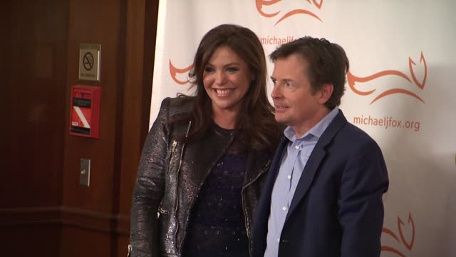 rachael ray and michael j fox at a funny thing happened on the way to cure parkinsons at the waldorf astoria hotel on november 10 2012 in new york... - michael j. fox stock videos and b-roll footage