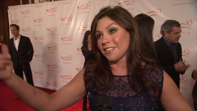 rachael ray explains why she wanted to support the benefitshares how michael j fox inspires her he is the epitome of optimismshe is just happy to be... - michael j. fox stock videos and b-roll footage