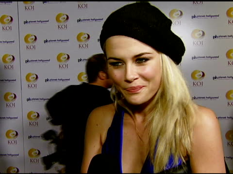 Rachael Taylor on being a fan of KOI in Los Angeles her favorite dish and her plans while in Las Vegas at the KOI Las Vegas Grand Opening at Planet...
