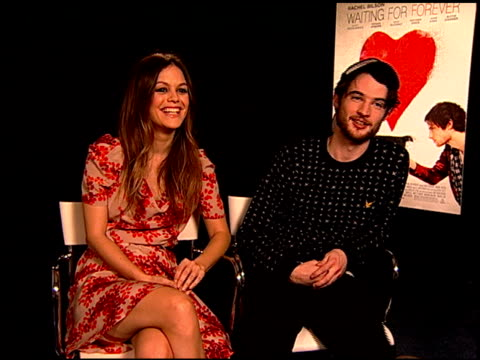 Rachel Bilson and Tom Sturridge on f Tom can actually juggle at the 'Waiting For Forever' Junket at Los Angeles CA