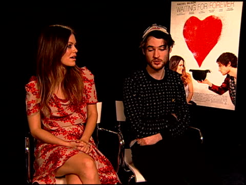 Rachel Bilson and Tom Sturridge on how Tom got involved in the movie at the 'Waiting For Forever' Junket at Los Angeles CA