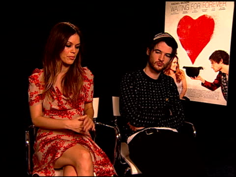 Rachel Bilson and Tom Sturridge on if they could relate to certain aspects of their characters at the 'Waiting For Forever' Junket at Los Angeles CA