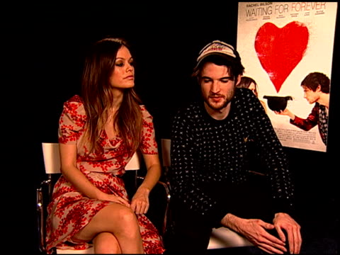 Rachel Bilson and Tom Sturridge on what they hope audiences take away from the film at the 'Waiting For Forever' Junket at Los Angeles CA