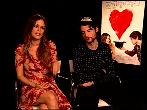 Rachel Bilson and Tom Sturridge on why they wanted to be part of this film at the 'Waiting For Forever' Junket at Los Angeles CA