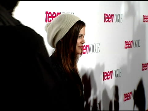 Rachel Bilson at the Teen Vogue Young Hollywood Issue Party arrivals at the Sunset Tower Hotel in Hollywood California on September 20 2006