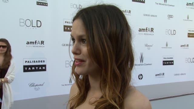 Rachel Bilson on being at amfAR at the amfAR Cinema Against AIDS Gala at Antibes