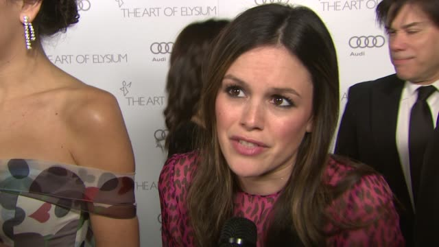 Rachel Bilson on supporting Art of Elysium and tonight's event on her involvement with the organization and how the work has impacted her and on how...