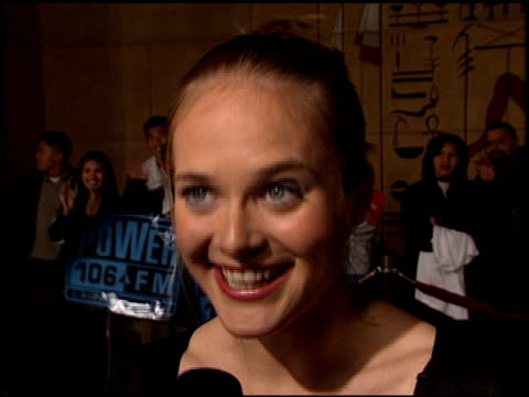 rachel blanchard at the premiere of 'the rage carrie 2' at the egyptian theatre in hollywood california on march 8 1999 - rachel blanchard stock videos and b-roll footage