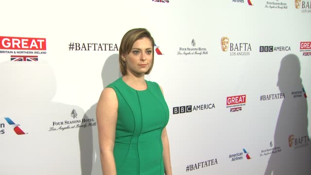 rachel bloom at the bafta los angeles awards season tea party at four seasons hotel los angeles at beverly hills on january 09 2016 in los angeles... - tea party stock videos and b-roll footage
