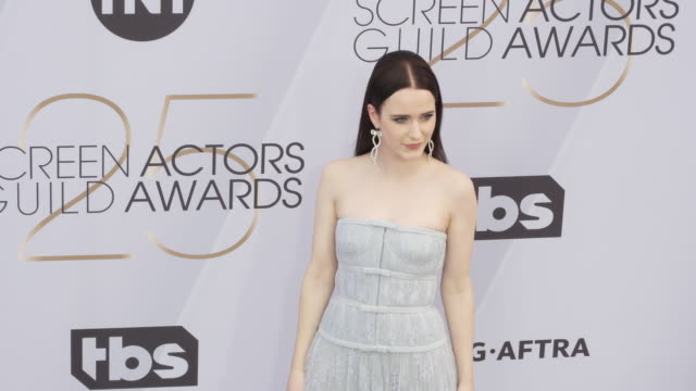 stockvideo's en b-roll-footage met rachel brosnahan at the 25th annual screen actors guild awards at the shrine auditorium on january 27 2019 in los angeles california - screen actors guild awards