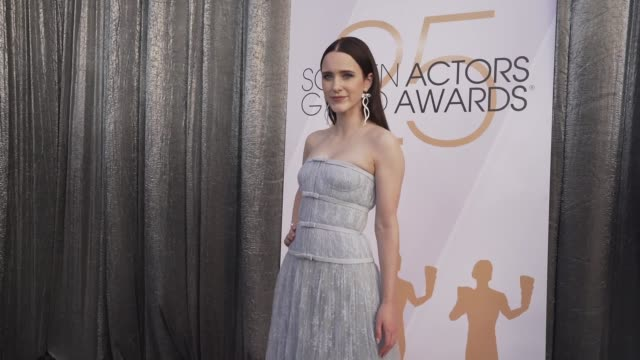 rachel brosnahan at the 25th annual screen actors guild awards - social ready content at the shrine auditorium on january 27, 2019 in los angeles,... - screen actors guild awards stock-videos und b-roll-filmmaterial