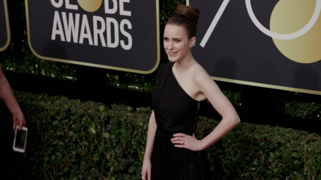 rachel brosnahan at the 75th annual golden globe awards at the beverly hilton hotel on january 07, 2018 in beverly hills, california. - the beverly hilton hotel stock videos & royalty-free footage