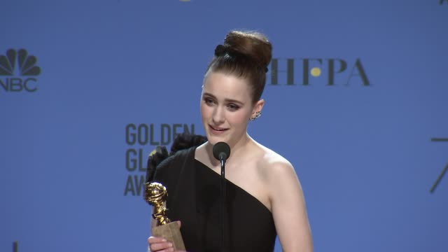 SPEECH Rachel Brosnahan at the 75th Annual Golden Globe Awards Press Room at The Beverly Hilton Hotel on January 07 2018 in Beverly Hills California