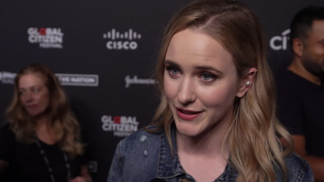 rachel brosnahan says when we combine our voices there's nothing we can't do, on her work as a global citizen ambassador, on the number of people... - citizenship stock videos & royalty-free footage