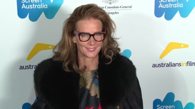 rachel griffiths at the screen australia and australians in film host australian oscar nominees party at four seasons hotel los angeles at beverly... - oscar party stock-videos und b-roll-filmmaterial