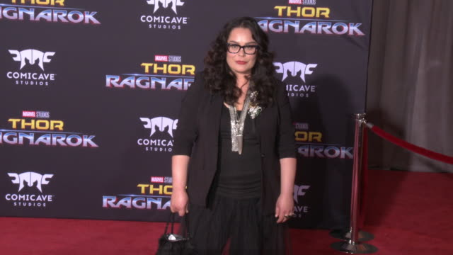 rachel house at the thor ragnarok premiere at the el capitan theatre on october 10 2017 in hollywood california - thor: ragnarok stock videos & royalty-free footage