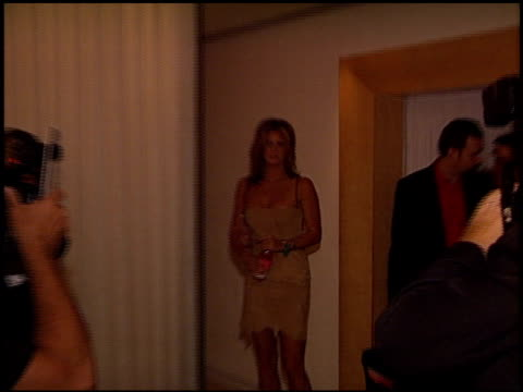 rachel hunter at the 2002 entertainment tonight emmy party at the mondrian hotel in west hollywood, california on september 22, 2002. - モンドリアンホテル点の映像素材/bロール