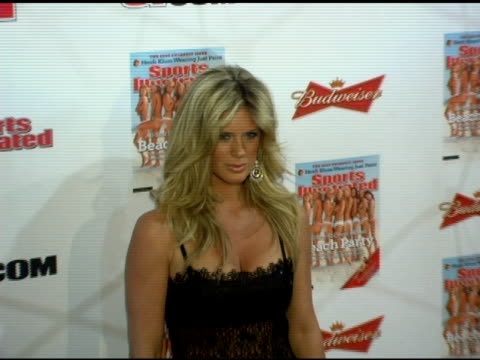 rachel hunter at the 2006 sports illustrated swimsuit issue photocall at crobar in new york new york on february 14 2006 - sports illustrated swimsuit issue stock videos & royalty-free footage