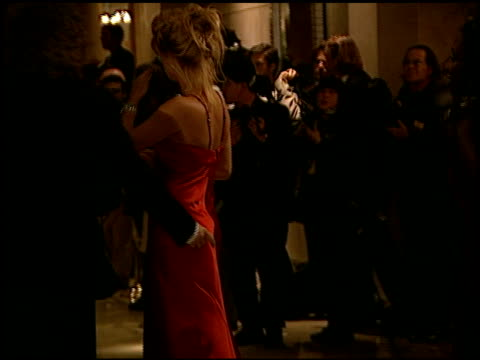 rachel hunter at the carousel of hope gala at the beverly hilton in beverly hills, california on october 25, 1996. - レイチェル ハンター点の映像素材/bロール