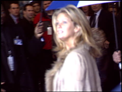 vídeos de stock e filmes b-roll de rachel hunter at the 'miracle' premiere at the el capitan theatre in hollywood, california on february 2, 2004. - milagres