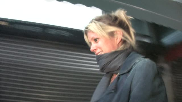 rachel hunter in hollywood. at the celebrity sightings in los angeles at los angeles ca. - レイチェル ハンター点の映像素材/bロール