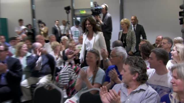 rachel johnson to stand in european election for change uk england bristol int change uk mps along to panel at launch of their eu election campaign... - heidi allen stock videos & royalty-free footage