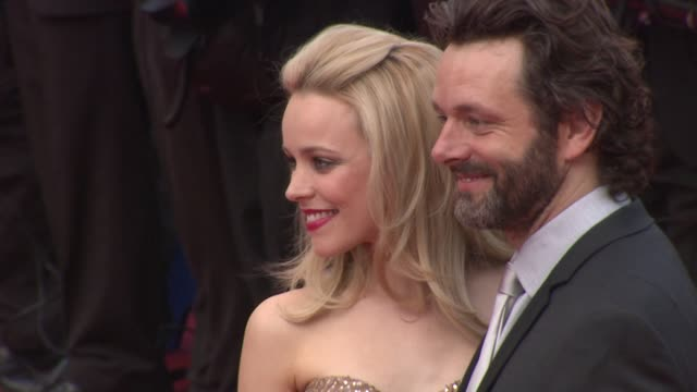 rachel mcadams and michael sheen at the sleeping beauty premiere 64th annual cannes film festival at cannes - amrapali stock videos & royalty-free footage